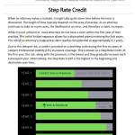 Step Rate Credit