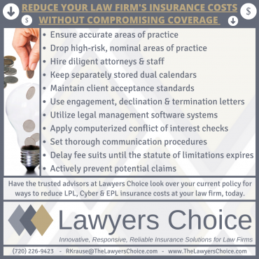 Reduce your Law Firm's Insurance Costs Without Compromising Coverage